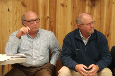 Bill Rich, Hyde County manager and Earl Pugh, chairman of Hyde County Board of Commissioners. Photo by P. Vankevich