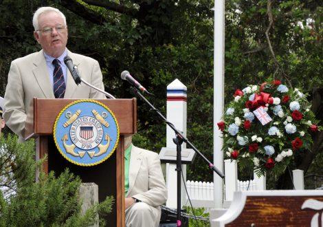 British Cemetery ceremony, Ocracoke, NC, 2017