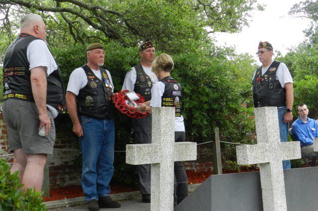 British Cemetery ceremony 2017, Ocracoke, NC, 2017