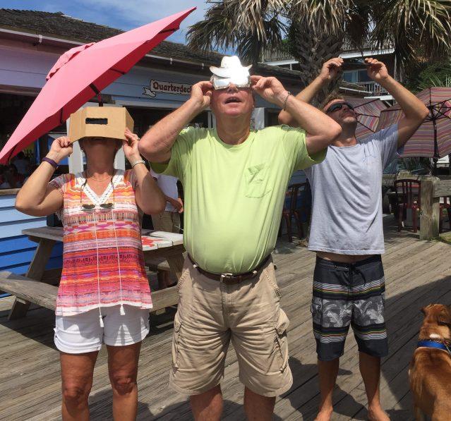Partial solar eclipse Ocracoke NC 2017